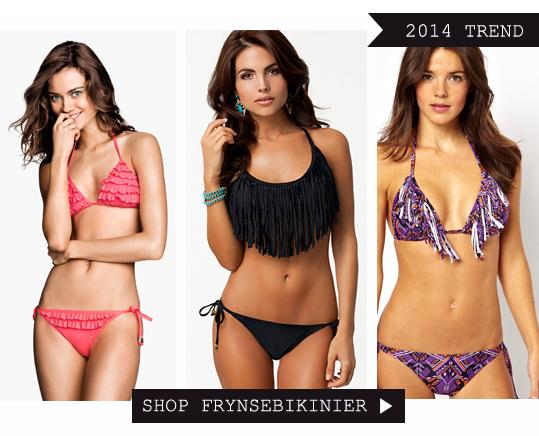 Bikini med frynser